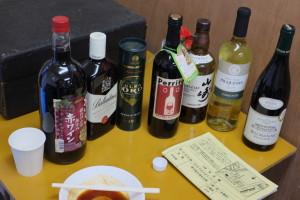赤ワインがたくさんです。