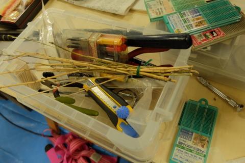 ウエダリクオさんの作業道具