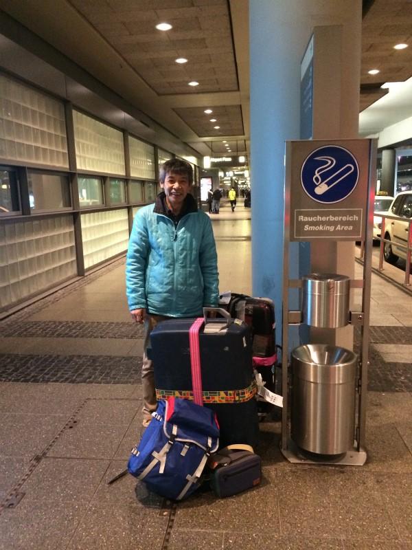ウエダリクオさん ドイツに到着
